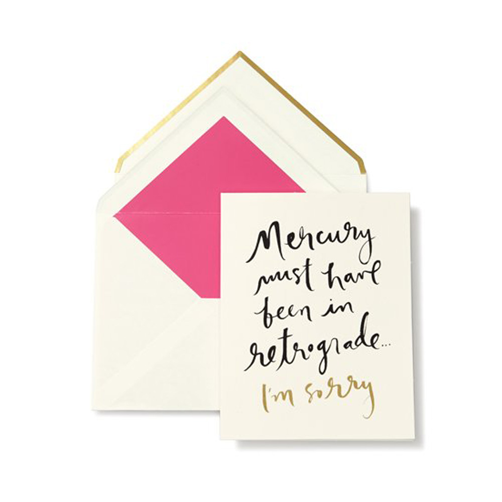 Kate spade greeting card im sorry ps floral design i am sorry card altavistaventures Image collections