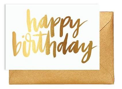 Greeting Card – HAPPY BIRTHDAY GOLD