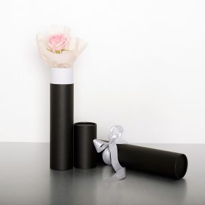 White, Pink, or Red roses  Sometimes simple is best. Select a pink(grace, joy), white (innocence, secrecy) or red rose (love) and we will present it in a black classic tube box with satin ribbon.  8cmW x 50cmH