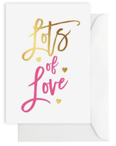 Greeting Card – LOTS OF LOVE